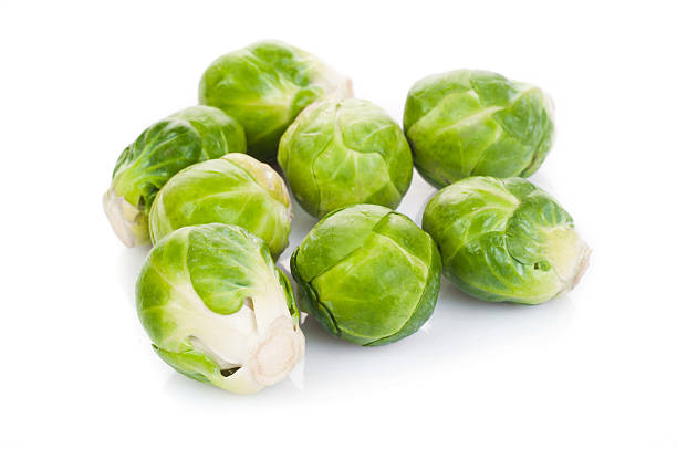 Eecological Brussels sprout stock photo