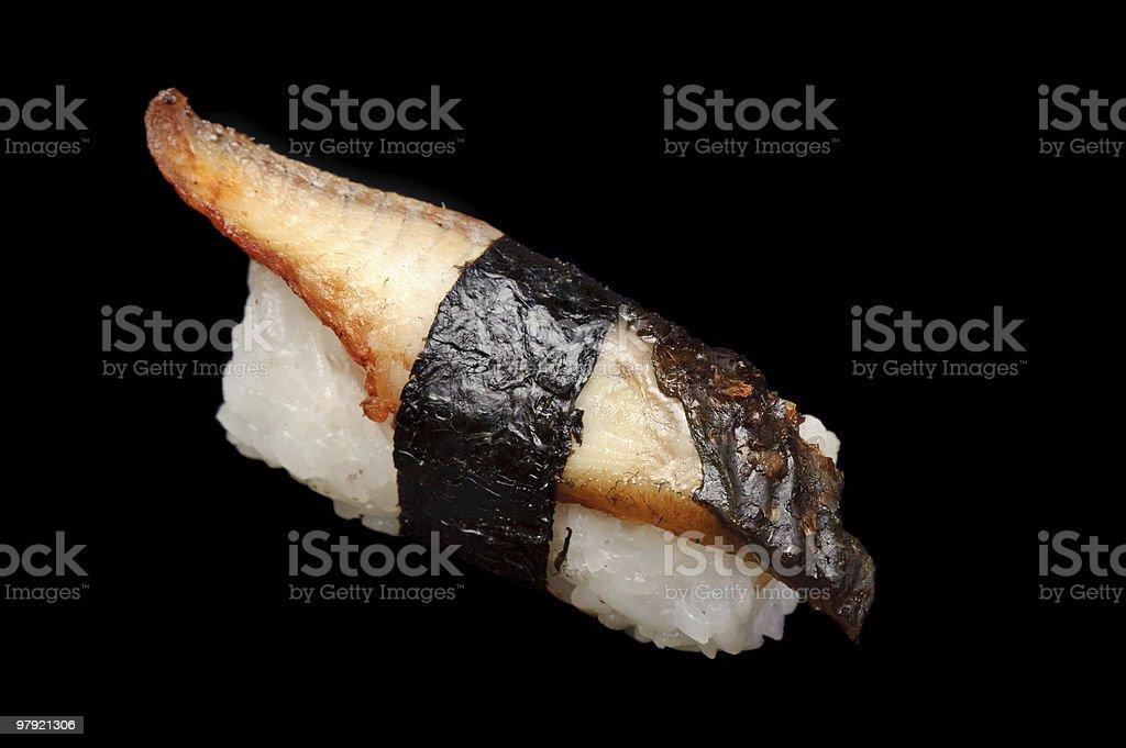eel nigiri-zushi royalty-free stock photo
