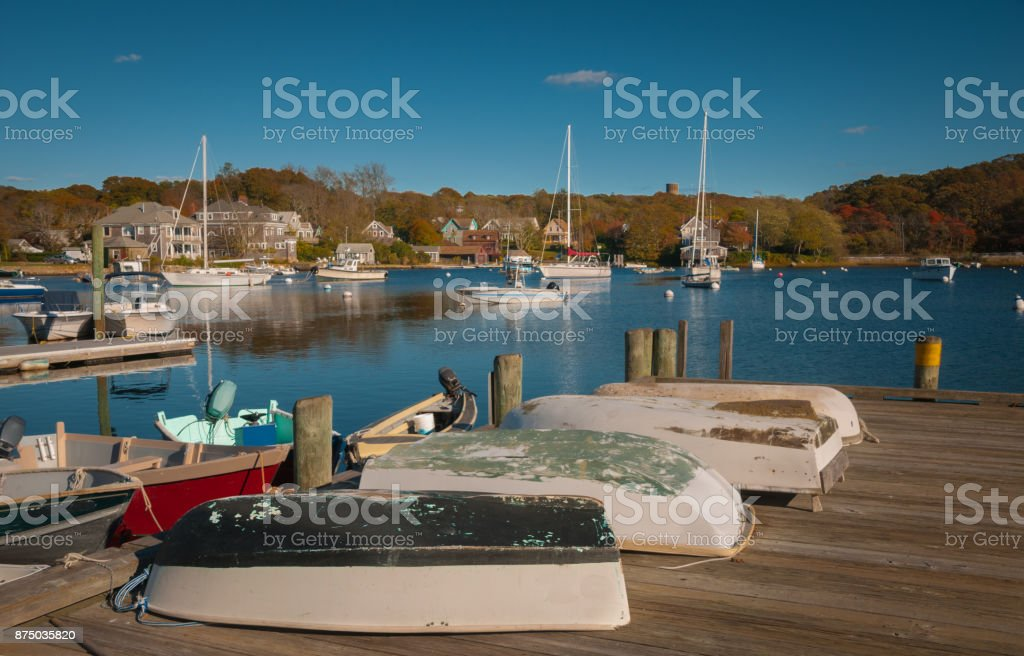 Eel Pond Harbor stock photo