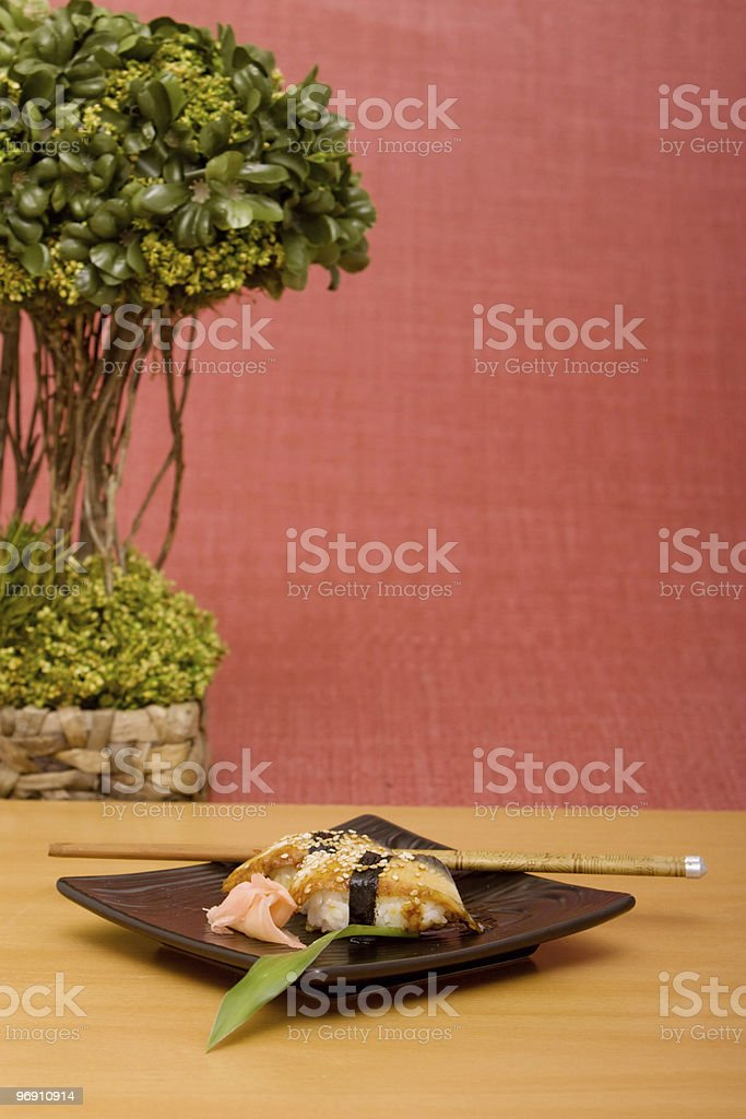 Eel unagi sushi royalty-free stock photo