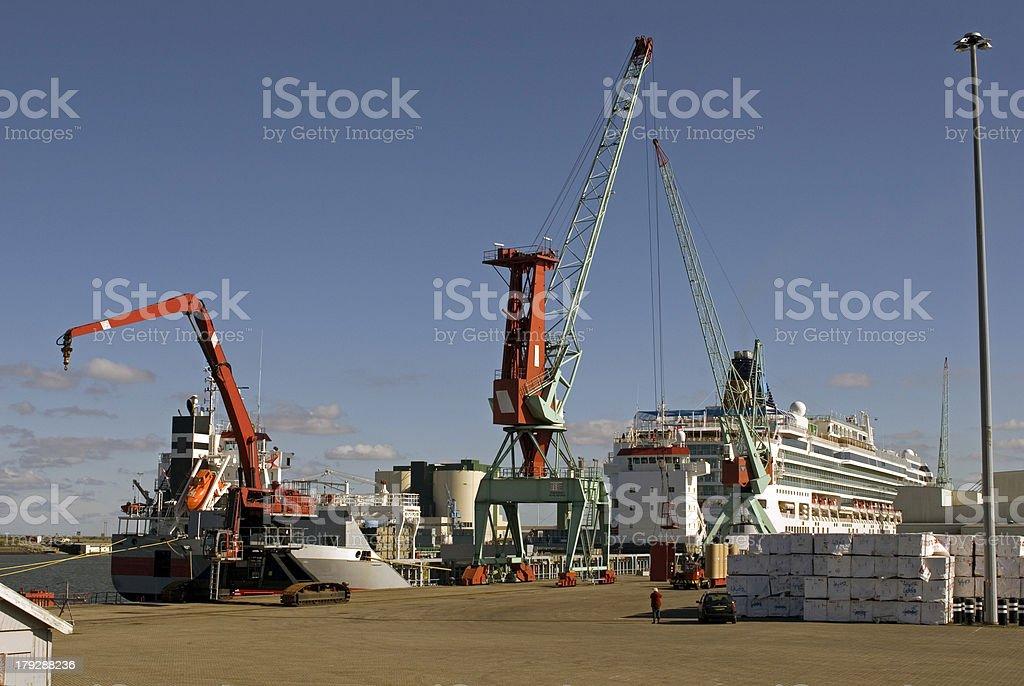 Eemshaven harbour stock photo