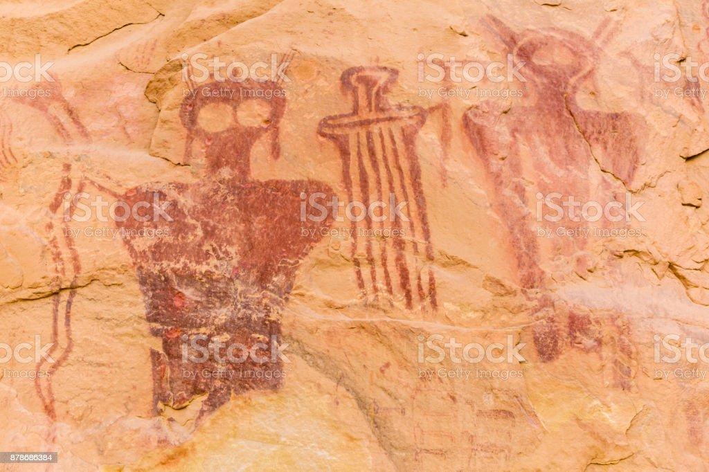 Eerie Humanoid Figures of Sego Canyon stock photo