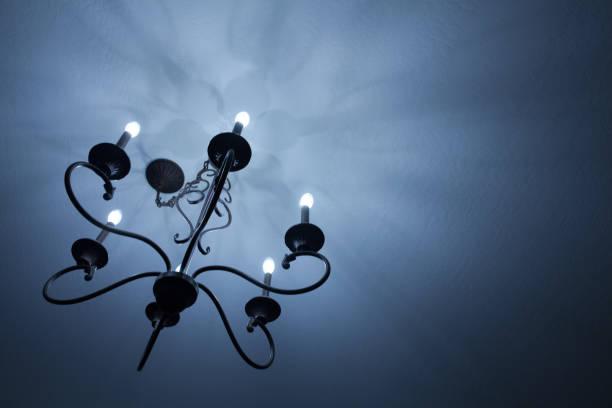 Eerie Lighting Fixture stock photo