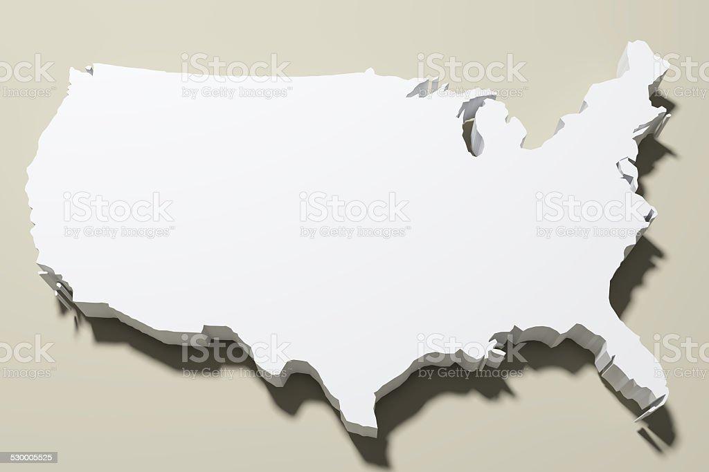 Mapa de eeuu - foto de stock