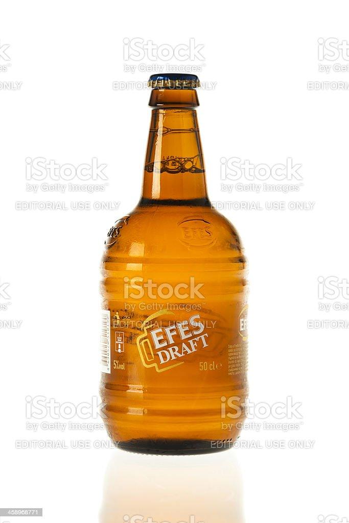 Efes Draft Beer Bottle stock photo