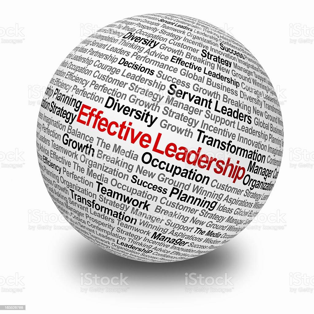 Effective leadership stock photo