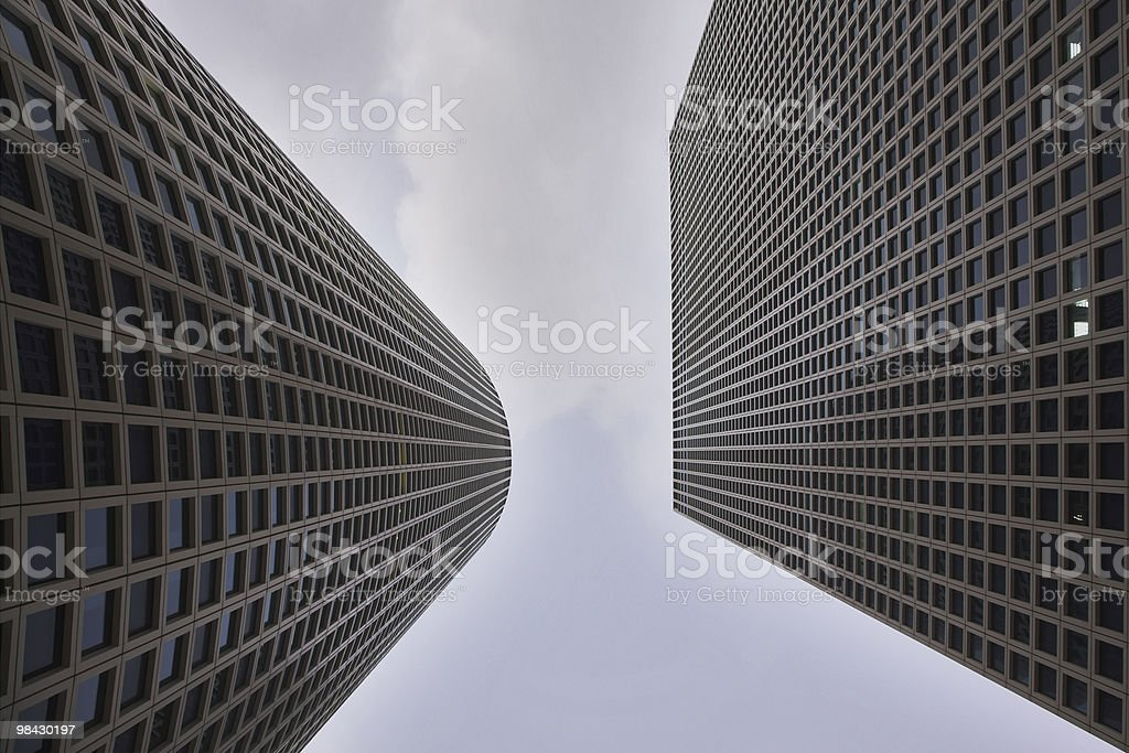 Effective skyscrapers Center Asrieli royalty-free stock photo
