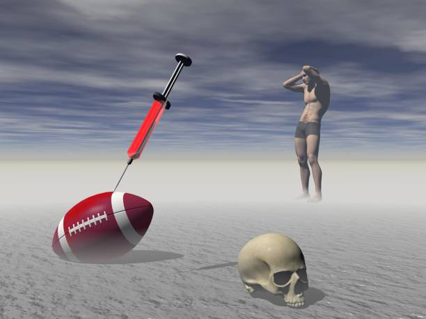 Effects of doping in sport - 3d rendering stock photo