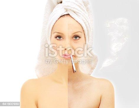 istock Effects of smoking.Bad habit 641902930
