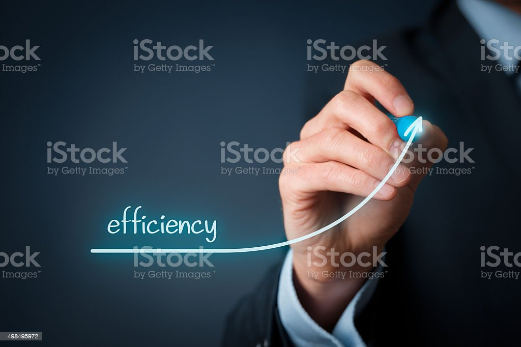 Efficiency increase stock photo