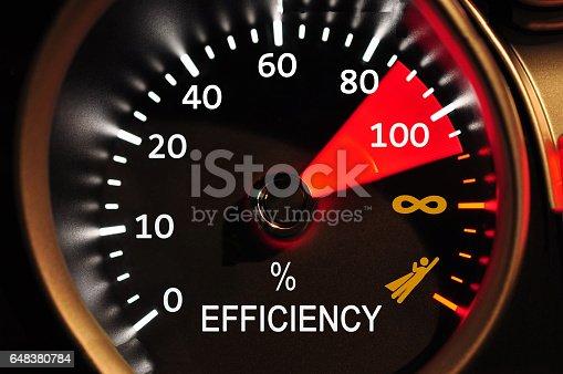 istock Efficiency Meter Concept 648380784