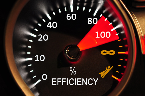 istock Efficiency Meter Concept 648380784