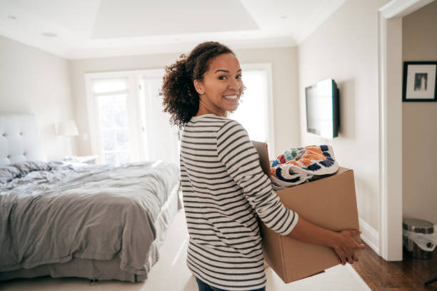 Efficient moving with no stress stock photo