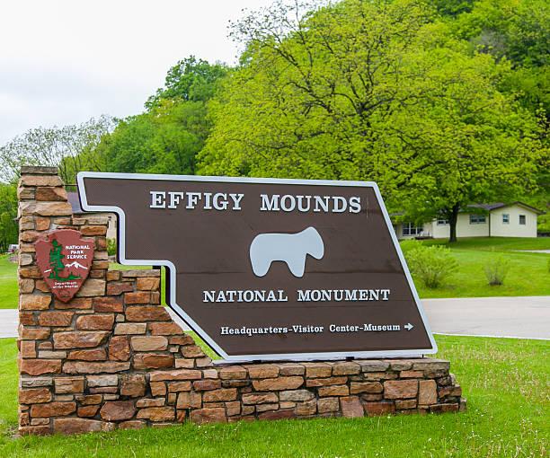 Effigy Mounds National Monument stock photo