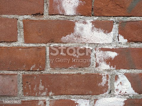 damage caused by efflorescence on a wall