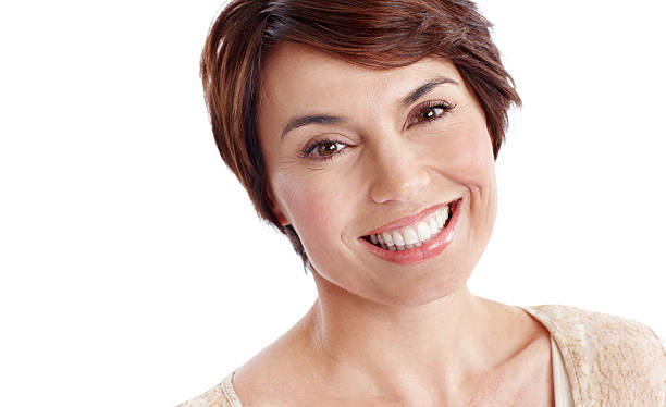 Effortless confidence! Closeup portrait of a mature beautiful woman smiling one mature woman only stock pictures, royalty-free photos & images