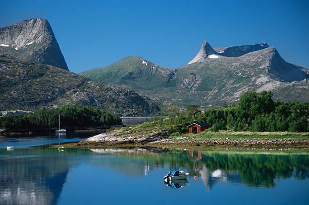 Efjord Noruega - foto de acervo