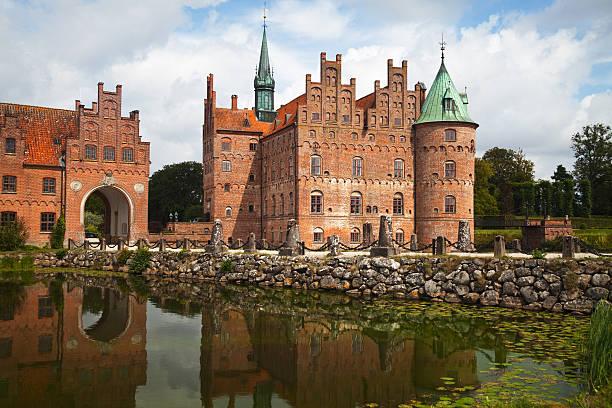 Egeskov castle stock photo