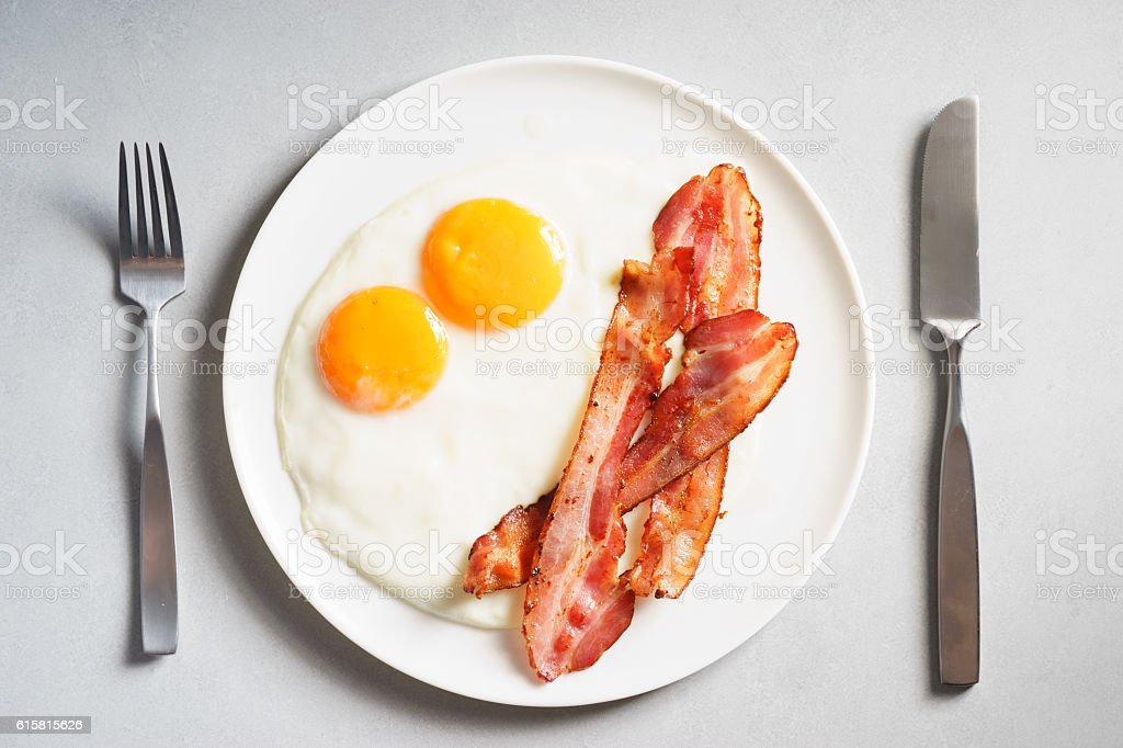 egg and bacon stock photo