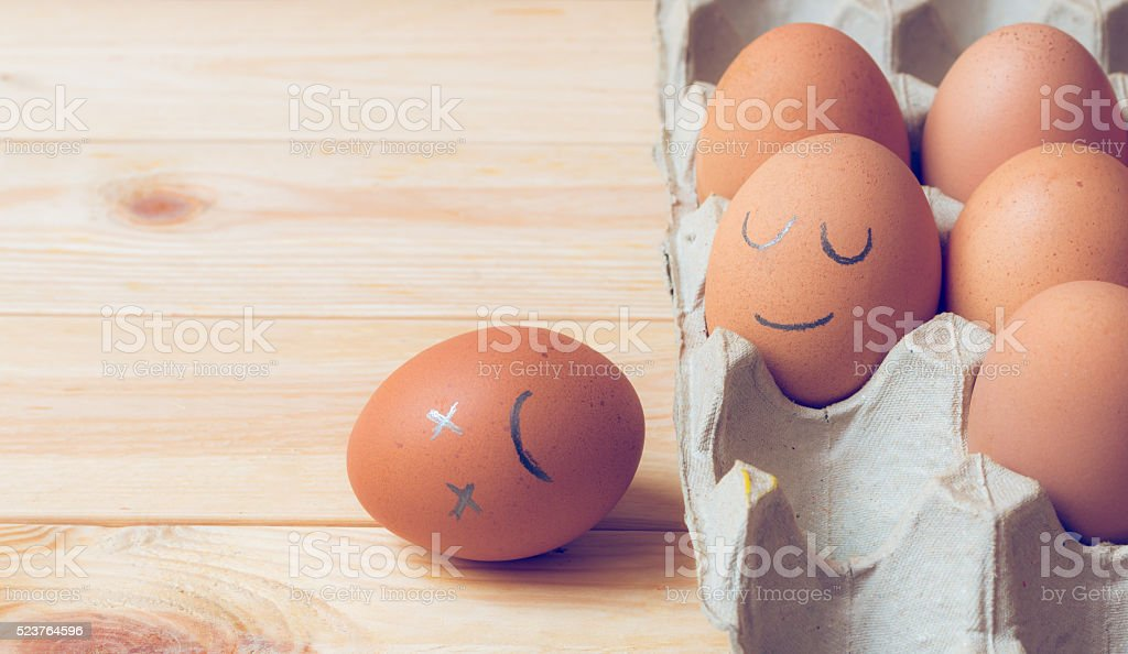 Egg and face stock photo
