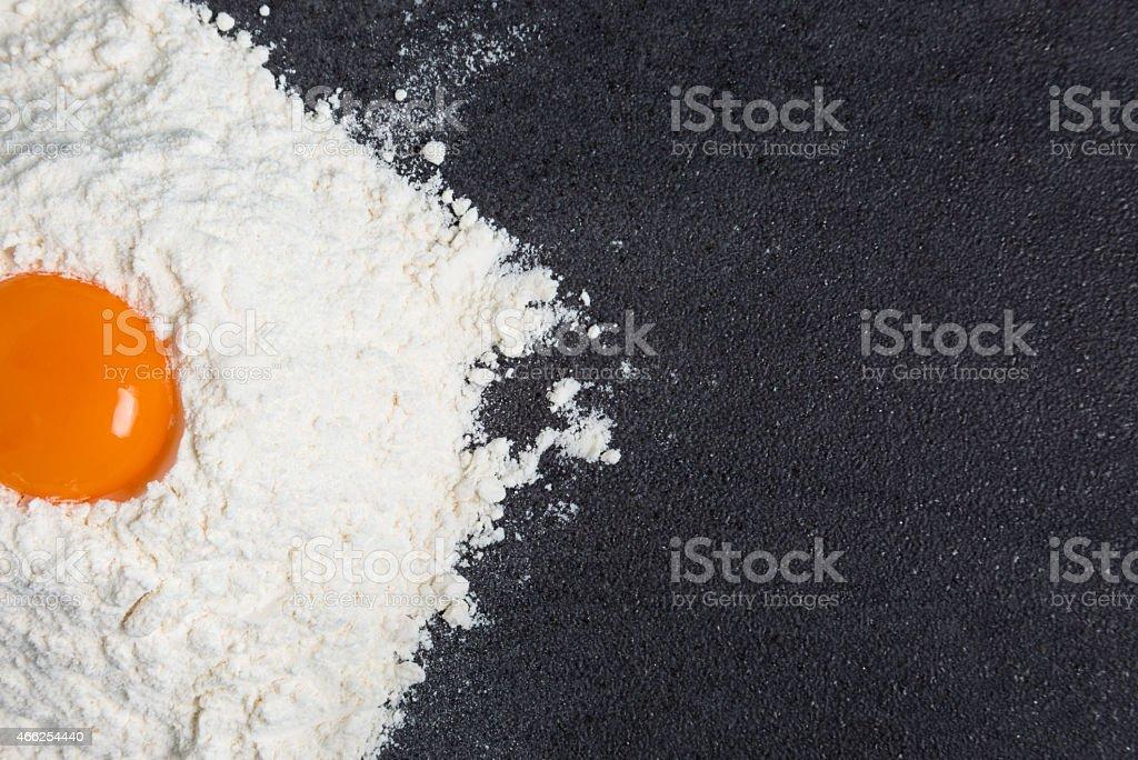 Egg and Flour stock photo