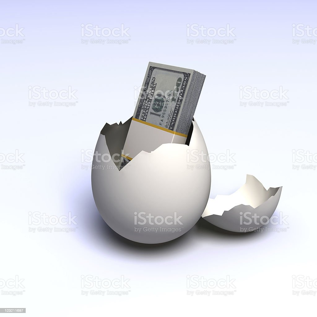 Egg and money royalty-free stock photo