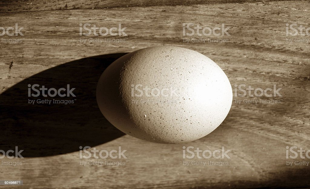 egg and shadow royalty-free stock photo