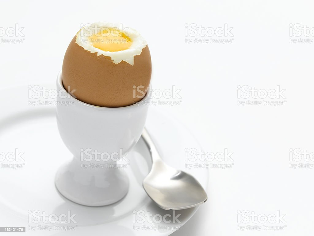 egg and spoon stock photo