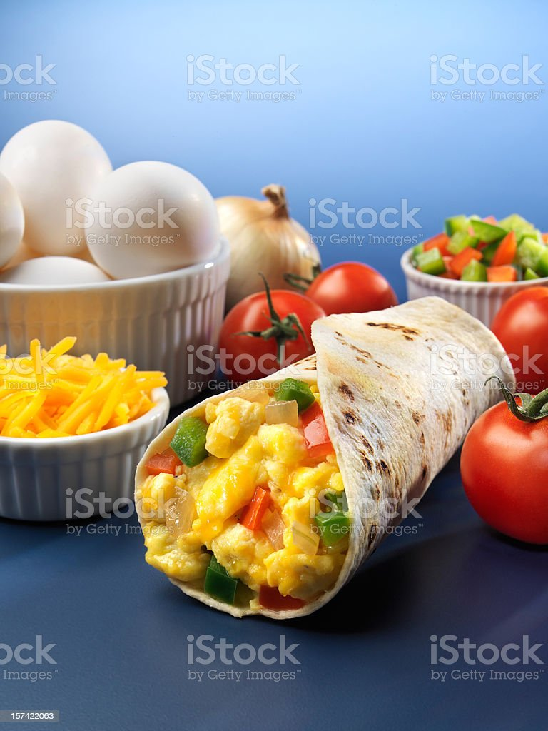 Egg and vegetable Burrito royalty-free stock photo