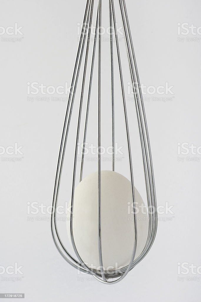 Egg and Wire Whisk stock photo