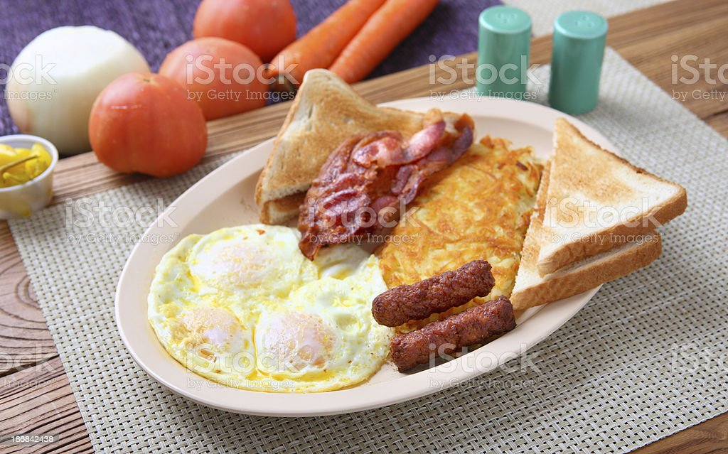 Egg & Bacon Lunch stock photo