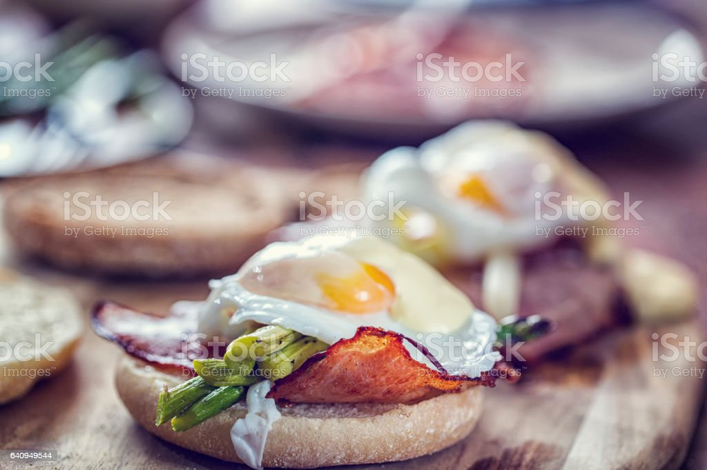 Egg Benedict For Breakfast stock photo