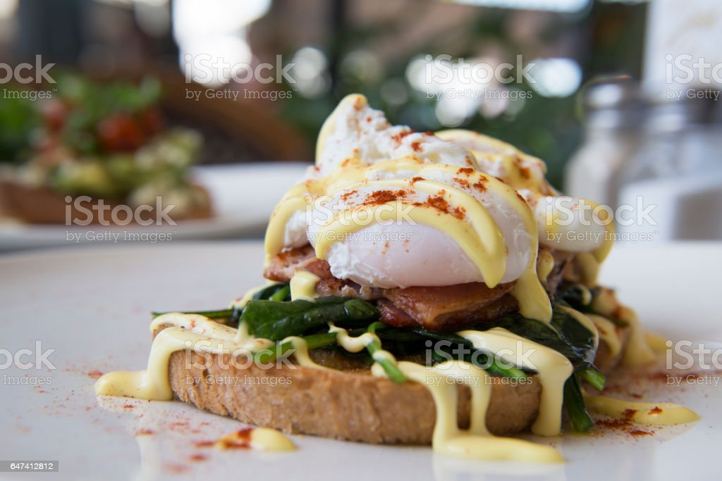 Egg Benedict stock photo