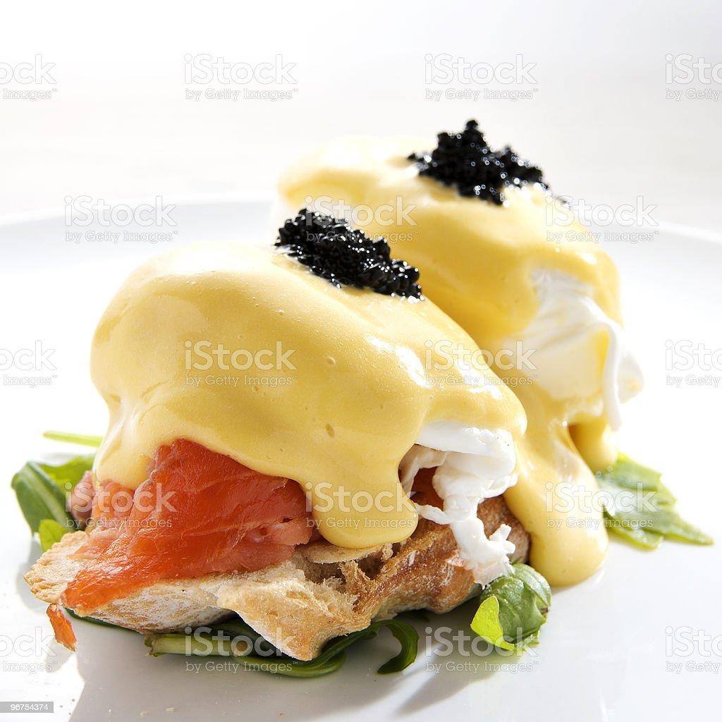 Egg Benedict with Smoked Salmon royalty-free stock photo