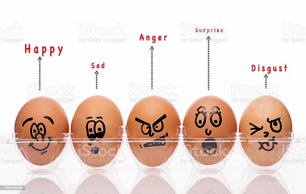 Egg Characters stock photo