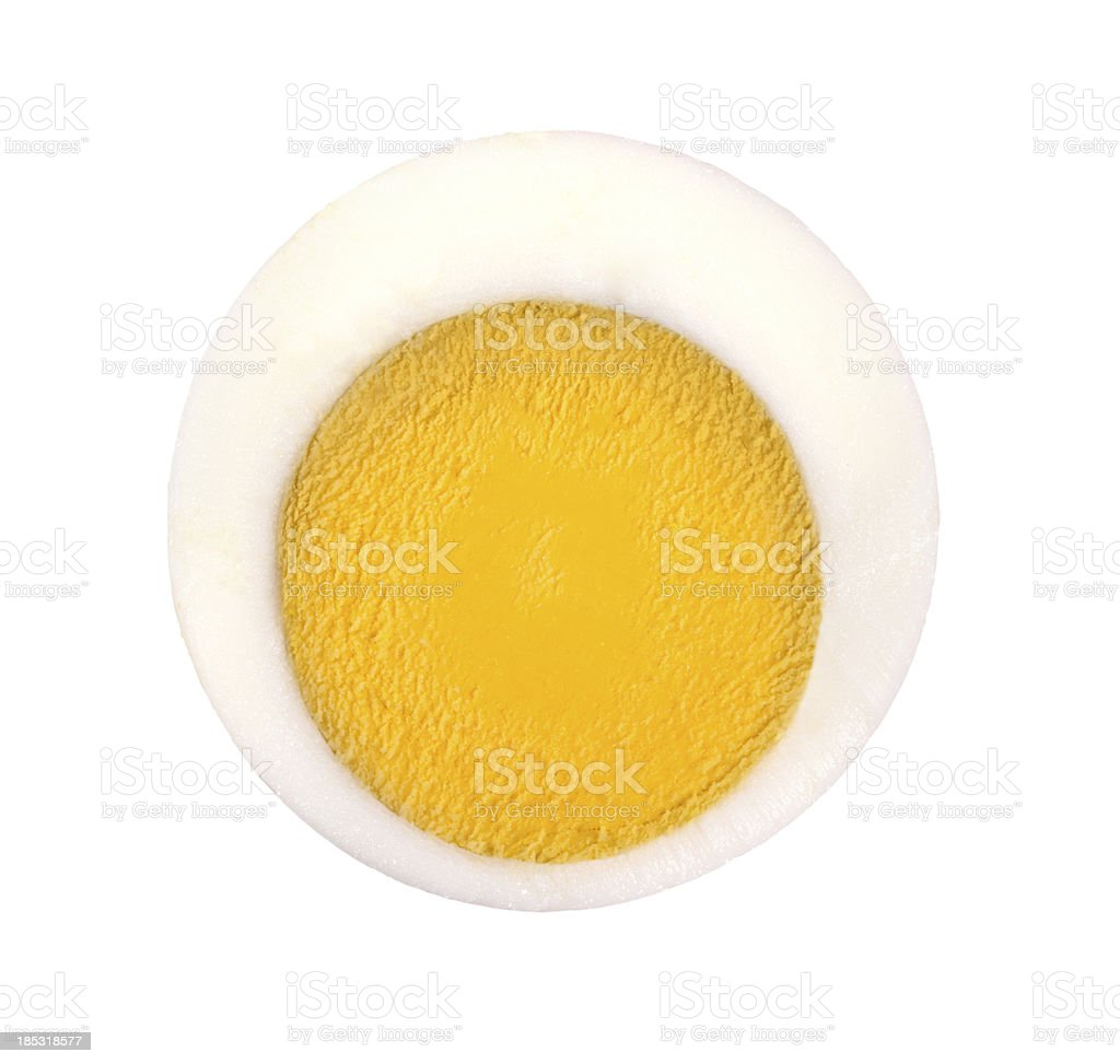 Egg cross section stock photo