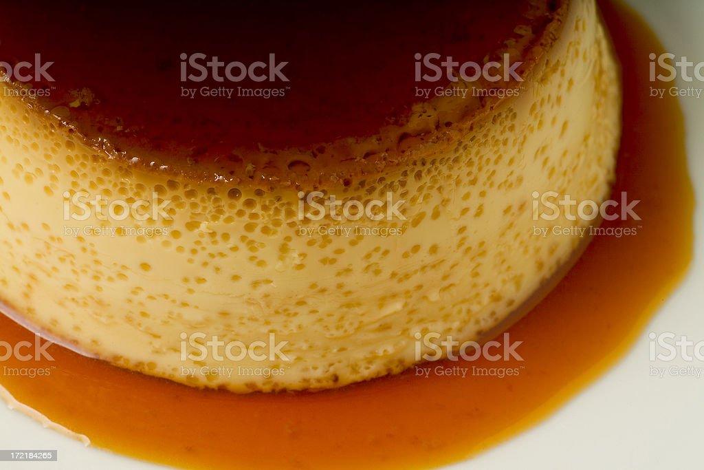 Flan de Huevo con caramelo stock photo