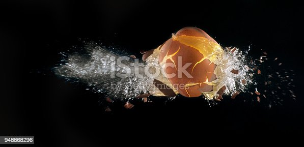 explosion of an egg