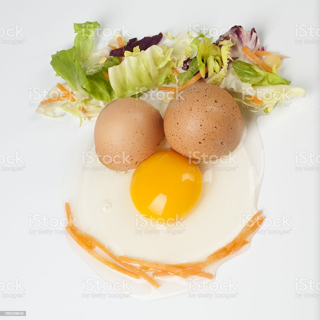 egg face stock photo