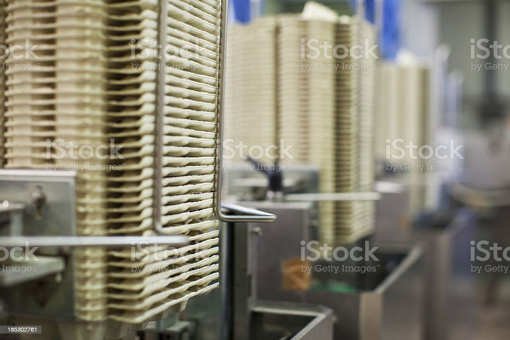 Egg factory...Stacks of empty cardboard boxes royalty-free stock photo