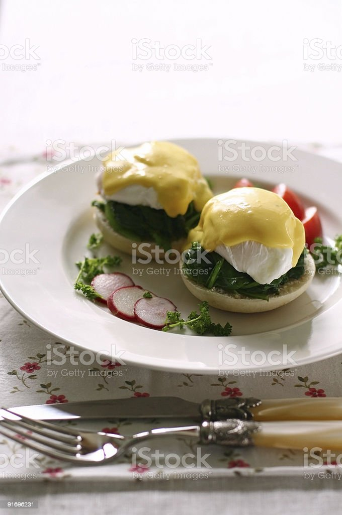 egg florentine royalty-free stock photo