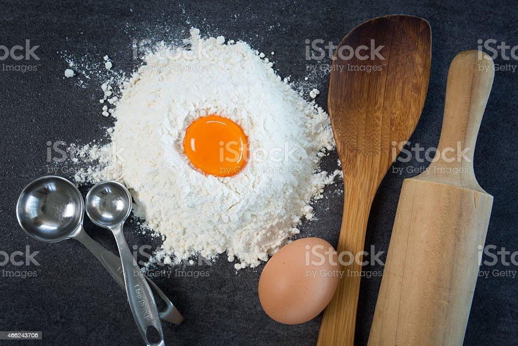 Egg Flour Baking stock photo