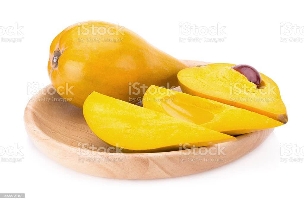 Egg fruit, Canistel, Yellow Sapote stock photo
