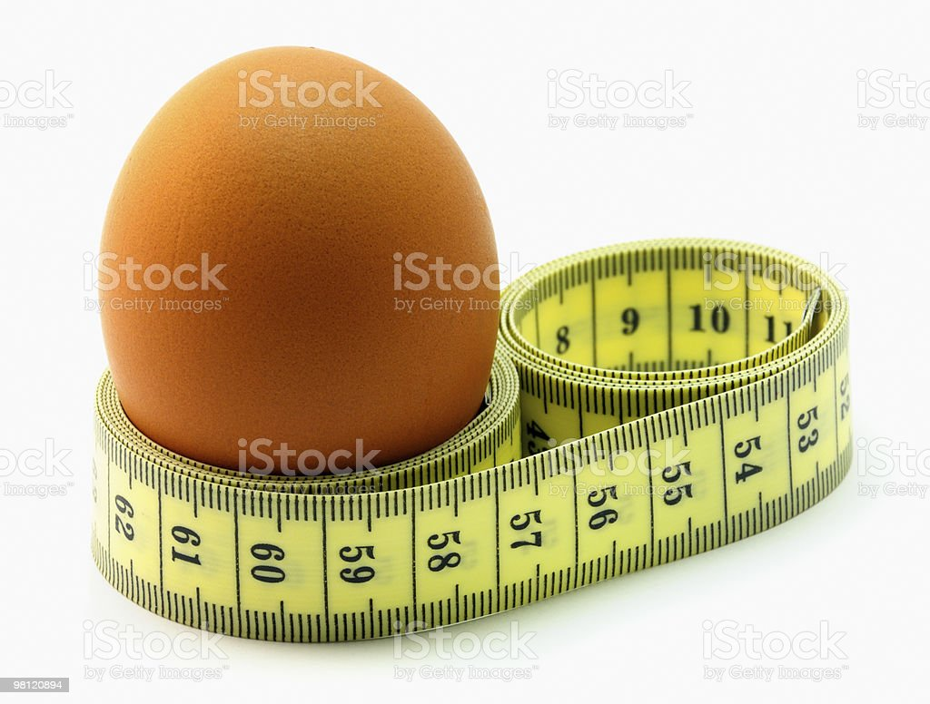 Egg Measure royalty-free stock photo