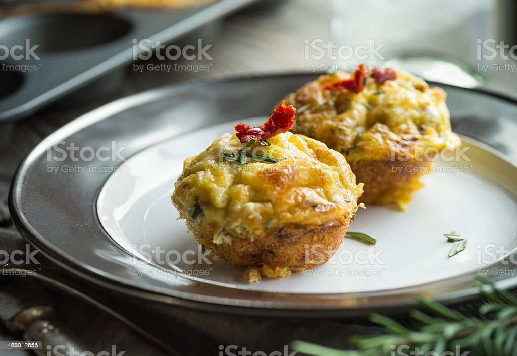 Egg Muffins stock photo