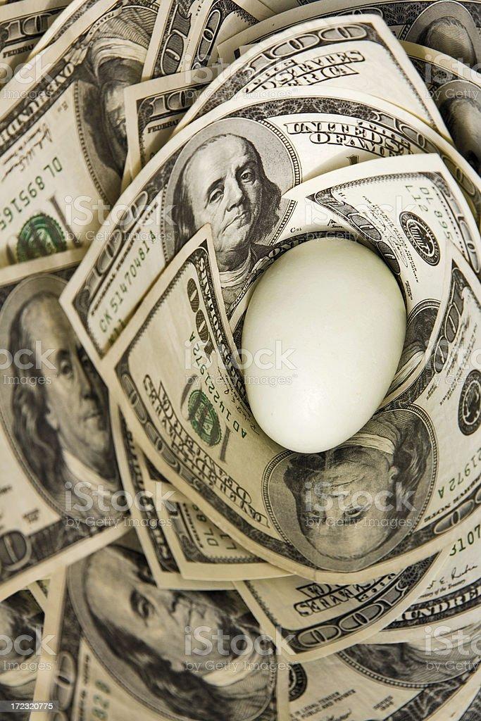 Egg Nest royalty-free stock photo