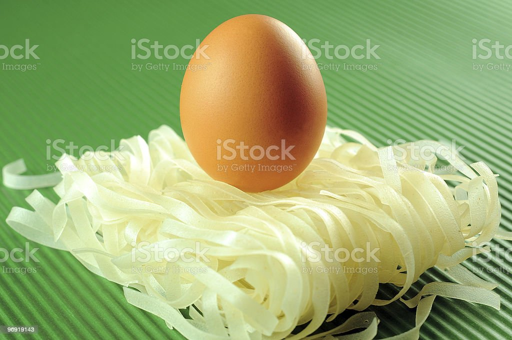 egg & noodles royalty-free stock photo