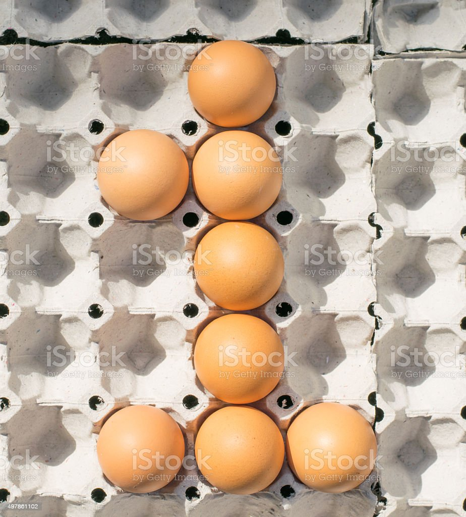 egg number stock photo