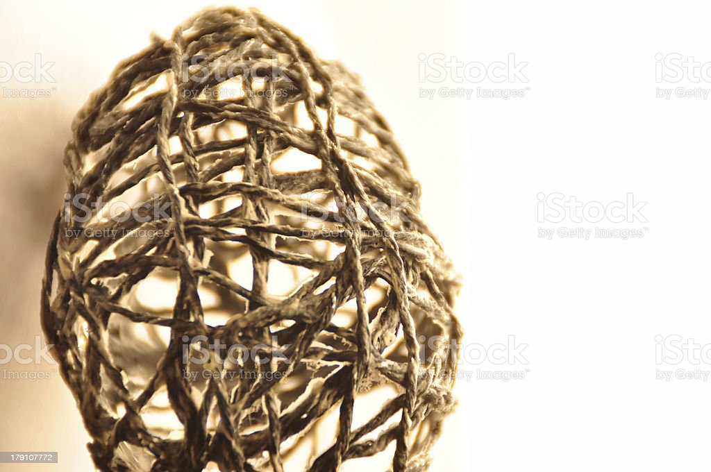 Egg of string royalty-free stock photo