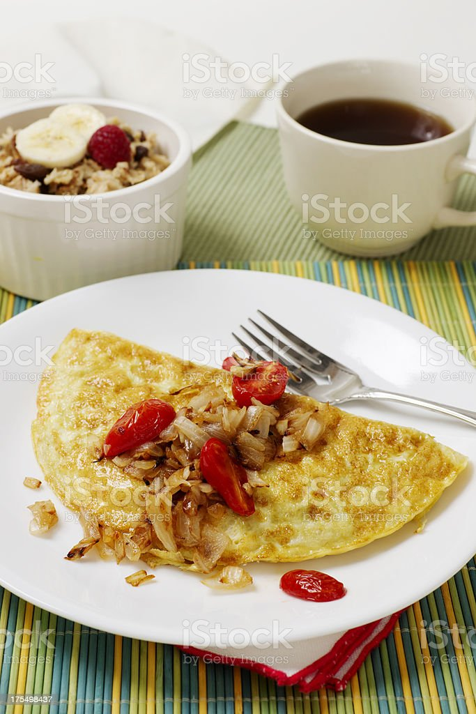 Egg Omelet with Vegetables royalty-free stock photo